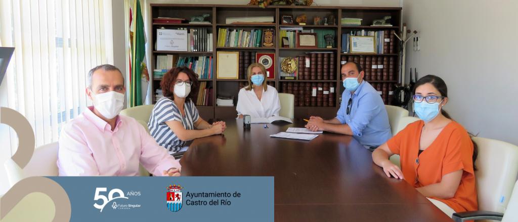 Futuro Singular Córdoba ha firmado con el Ayuntamiento de Castro del Río un convenido para la concesión de una ayuda económica por valor de 10.351 €.